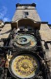 башня prague астрономических часов стоковые фото