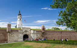 Башня Sahat на крепости Kalemegdan, Сербии Стоковое Фото