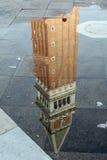 башня san отражения marco колокола Стоковые Фотографии RF