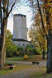 башня scloss bruck стоковая фотография