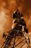 башня sepia связей Стоковое фото RF