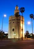 башня seville Испании золота Стоковое фото RF