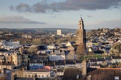 Башня Shandon в городе пробочки, Ирландии Стоковые Изображения RF