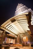 башня shanghai ночи jin mao Стоковое Фото