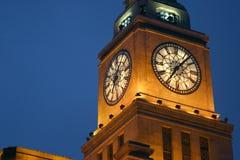 башня shanghai часов Стоковые Изображения