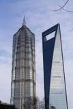 башня shanghai jinmao зодчества Стоковые Фотографии RF