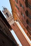 башня siena здание муниципалитет колокола Стоковое фото RF