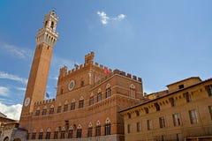 башня siena pubblico palazzo Стоковые Фотографии RF