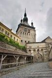башня sighisoara Румынии часов старая Стоковые Изображения