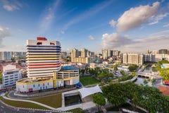Башня Sim Lim на заходе солнца Стоковое Фото