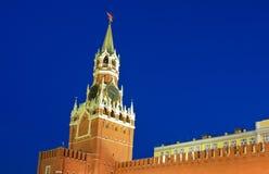 Башня Spasskaya или башня спасителя Стоковые Изображения RF