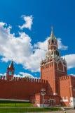 Башня Spasskaya Кремля в Москве Стоковое Изображение