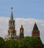 Башня Spasskaya, Москва Кремль, Россия Стоковые Фотографии RF
