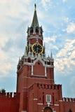 Башня Spasskaya Москвы Кремля moscow Россия Стоковые Изображения