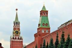 Башня Spasskaya Москвы Кремля moscow Россия Стоковая Фотография RF