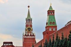 Башня Spasskaya Москвы Кремля moscow Россия Стоковые Изображения RF