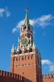 Башня Spasskaya Москвы Кремля на красной площади, Москве, России Стоковое фото RF