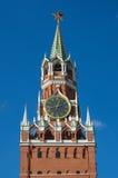 Башня Spasskaya Москвы Кремля на красной площади, Москве, России Стоковые Фото