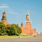 Башня Spasskaya Москвы Кремля на красной площади Россия Стоковые Фото