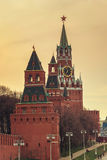 Башня Spasskaya Москвы Кремля, России Стоковые Изображения RF