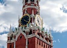 Башня Spasskaya Москвы Кремля Стоковая Фотография