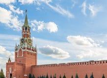 Башня Spasskaya Москвы Кремля Стоковые Фотографии RF