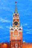 Башня Spasskaya Москвы Кремля Стоковые Изображения RF