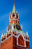 Башня Spasskaya на красной площади в Москве, России Стоковые Фото