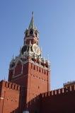 Башня Spasskaya с часами, Кремль Стоковое фото RF