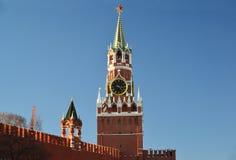 башня spasskaya kremlin moscow России Стоковые Изображения RF