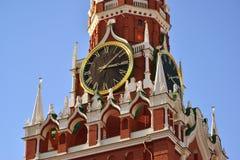 башня spasskaya kremlin moscow России Стоковое Изображение