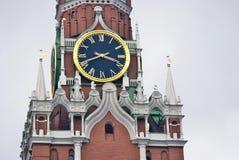 башня spasskaya kremlin moscow Фото цвета Стоковое Изображение RF