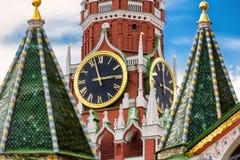 башня spasskaya kremlin moscow Стоковое Фото