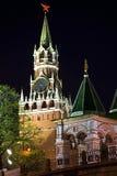 Башня Spassky Москвы Кремля на ноче. Стоковая Фотография RF