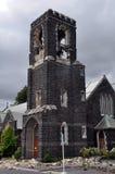 башня st marys землетрясения церков christchurch Стоковое Изображение