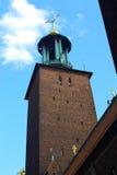 башня stockholm здание муниципалитет Стоковые Фотографии RF