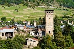 Башня Svan в Mestia Стоковое фото RF