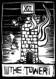 башня tarot иллюстрация штока