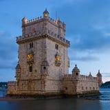 башня torre belem de lisbon Португалии Стоковое Изображение RF