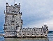 башня torre belem de lisbon Португалии Стоковое Изображение