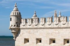 башня torre belem de lisbon Португалии Стоковая Фотография RF