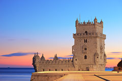 башня torre belem de lisbon Стоковое фото RF