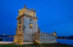 башня torre belem de lisbon Стоковая Фотография