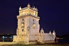 башня torre belem de lisbon Стоковое Изображение