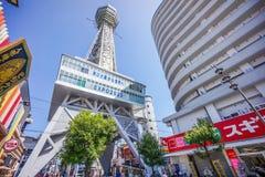 Башня Tsutenkaku на Shinsekai Стоковое Фото