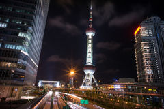 Башня TV перлы Шанхай востоковедная стоковые фотографии rf