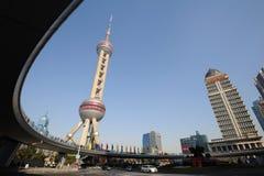Башня tv перлы Шанхая востоковедная Стоковые Изображения RF