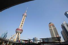 Башня tv перлы Шанхая востоковедная Стоковое Изображение
