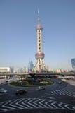 Башня tv перлы Шанхая востоковедная Стоковое фото RF