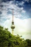 башня tv berlin стоковое изображение rf